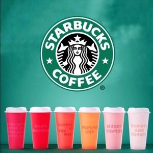 Starbucks reusable hot cups holiday 6 pack